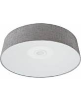"Avenue Cermack St. 24"" Wide Gray Linen LED Ceiling Light"