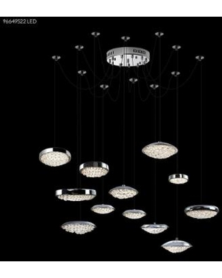 James R. Moder Galaxy Collection 50 Inch 12 Light LED Chandelier - 96649S22LED