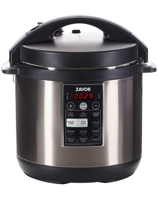 Zavor LUX 6 Qt. Stainless Steel Electric Pressure Cooker with Stainless Steel Cooking Pot, Silver