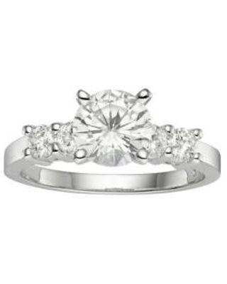 Charles & Colvard White Gold 1.4 ct. t.w. Lab Created Moissanite Engagement Ring in 14K White Gold