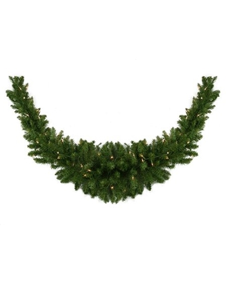 """60"""" Pre-Lit Eastern Pine Artificial Christmas Swag - Clear Lights"""