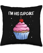 Best Cupcake Food Pastries Bakery Owner Clothes Cute Gift for Girls Kids Baker Baking Cupcake Lovers Throw Pillow, 16x16, Multicolor