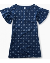 Tea Collection Indigo Ruffle Sleeve Dress