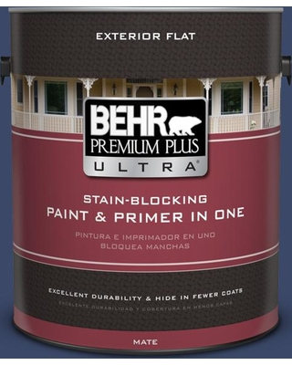 Shop Behr Ultra 1 Gal Mq5 14 Bon Nuit Flat Exterior Paint And Primer In One