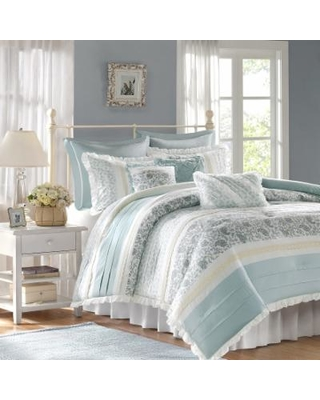 bf730eeb8173 On Sale NOW! 50% Off Madison Park Vanessa 9-piece Comforter Set, Blue