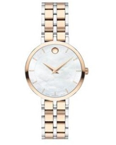 Movado Two-Tone Kora Rose Gold and Silver Bracelet Watch