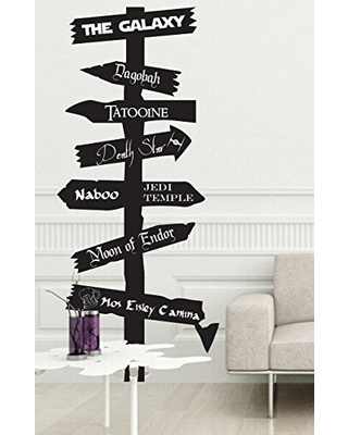 CUSTOMIZABLE Space galaxy themed road sign Vinyl wall Decal inspired by fandom Fantasy
