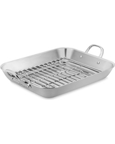 Williams Sonoma Thermo-Clad Stainless-Steel Flared Roaster with Rack, Extra-Large