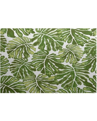 Simply Daisy, Palm Leaves, Floral Print Indoor/Outdoor Rug