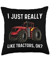Best Tractor Engine Mining Loading Monster Designs Cool Tractor Gift For Men Women Big Farming Vehicle Truck Throw Pillow, 18x18, Multicolor