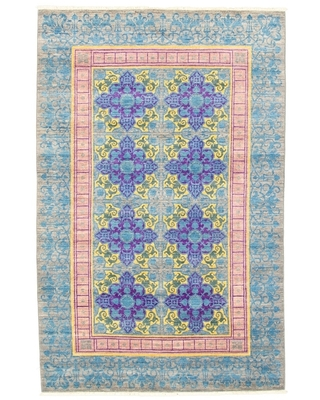 eCarpetGallery Hand-knotted Signature Collection Grey Rug - 6'0 x 9'2