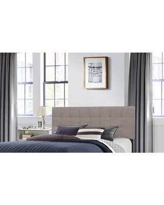 Hillsdale Furniture Delaney Full/Queen Upholstered Headboard with Frame, Stone