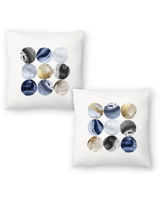Encompass Marble I and Encompass Marble II Set of 2 Decorative Pillows