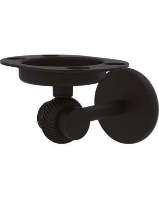 Allied Brass Satellite Orbit Two Collection Tumbler and Toothbrush Holder with Twisted Accents in Oil Rubbed Bronze