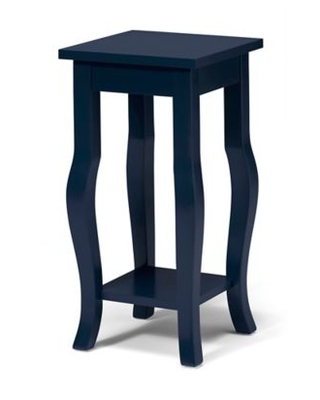 Kate and Laurel Lillian Pedestal End Table in Navy