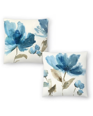 Blue Morning I and Blue Morning II Set of 2 Decorative Pillows