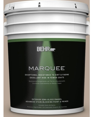 BEHR MARQUEE 5 gal. #bxc-43 Desert Sandstorm Semi-Gloss Enamel Exterior Paint and Primer in One, Browns/Tans