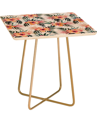 Deny Designs Honolua Tropical Side Table, Size One Size - Pink