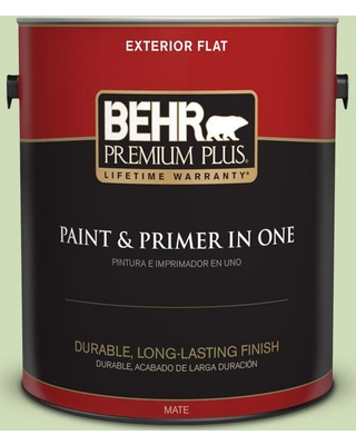 BEHR Premium Plus 1 gal. #430C-3 Peridot Flat Exterior Paint and Primer in One