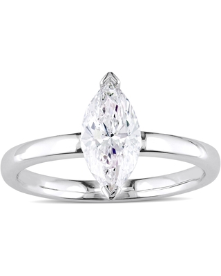 Miadora Signature Collection 14k White Gold 1ct TDW Marquise-Cut Diamond Solitaire Engagement Ring (6.5)