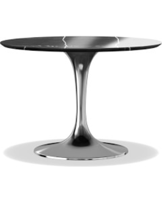 Fresh Fall Bargains On Tulip Pedestal Round Dining Table - Black marble tulip dining table