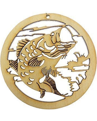 317a8a051 Personalized Fishing Gifts - Bass Fish Ornament - Fish Christmas Tree  Ornaments