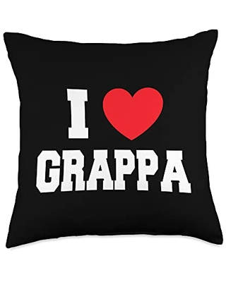 My Heart I Love Grappa Throw Pillow, 18x18, Multicolor