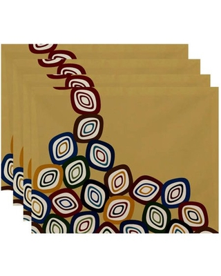 """Simply Daisy 18"""" x 14"""" Falling Leaves Geometric Print Placemat"""
