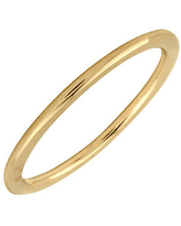 Simply Stacks Sterling 18K Yellow Gold-Plated 1 .5mm Ring