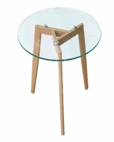 Edgemod Glass Top End Table - Natural