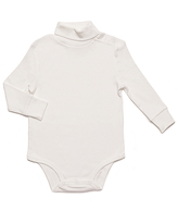 Leveret Infant Bodysuits Off-White - Off-White Turtleneck Bodysuit - Infant & Toddler