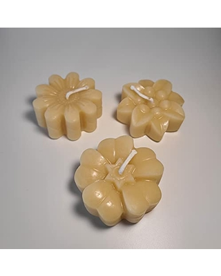 Floral Trio Candle - 100% Pure Beeswax Candle - Handmade Candle - Set of 3 Candles - 7.5 oz Candle