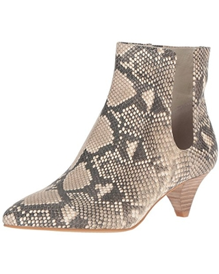 Dolce Vita Women's Yates Ankle Boot, Snake Print Embossed Leather, 9.5 M US