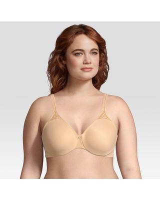 Bali Women's Passion for Comfort Seamless Minimizer Underwire Bra 3385 Soft Taupe - 38DDD, Brown