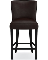 Trevor Counter Stool, Tuscan Leather, Chocolate