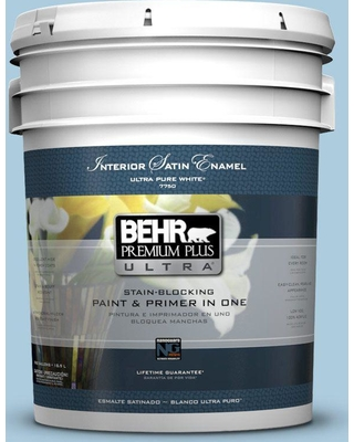 BEHR Premium Plus Ultra 5 gal. #M500-2 Early September Satin Enamel Interior Paint and Primer in One