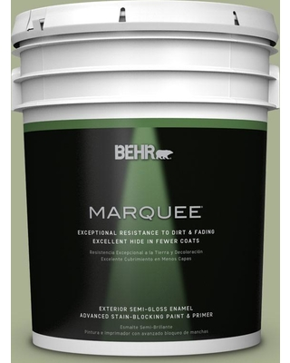 BEHR MARQUEE 5 gal. #PPU10-06 Spring Walk Semi-Gloss Enamel Exterior Paint and Primer in One