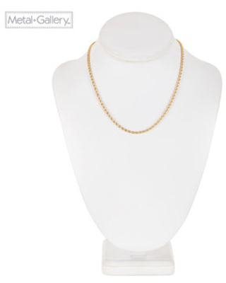 """Twisted Rope Chain Necklace - 16"""""""