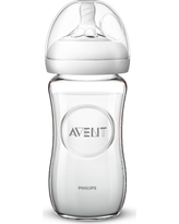 Philips Avent Natural Glass Baby Bottle 8oz, Clear