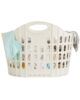 """Mind Reader Collapsible Laundry Basket in Ivory   23"""" x 12.5"""" x 15.25""""   Michaels®"""