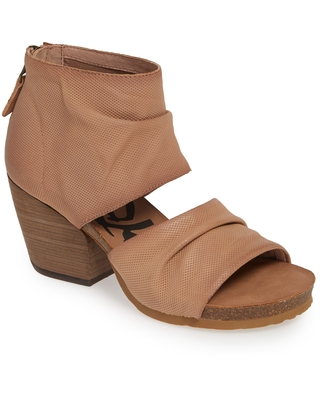 OTBT Patchouli Open Toe Bootie, Size 10 in Mauve Leather at Nordstrom