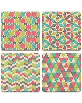 CoasterStone Maxwell Set of 4 Coasters, One Size, Multicolored