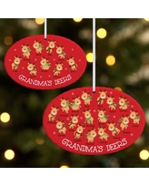 Personalized Little Deers Oval Christmas Ornament - Available in 2 Sizes