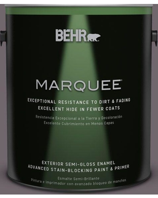 BEHR MARQUEE 1 gal. #N570-5 Curtain Call Semi-Gloss Enamel Exterior Paint and Primer in One