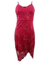 Guess Women's Embroidered Bodycon Dress (0, Red)