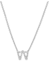 Women's Bony Levy 18K Gold Pave Diamond Initial Pendant Necklace (Nordstrom Exclusive)
