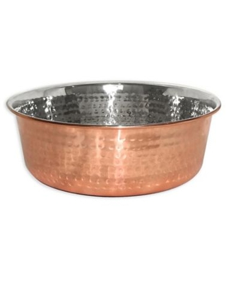 Neater Pet Brands® 32 oz. Copper-Plated Hammered Stainless Steel Medium Pet Bowl