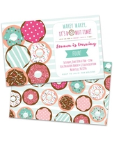 Personalized Donuts Birthday Party Invitations