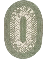 Home Decorators Collection Portland Palm 2 ft. x 3 ft. Oval Braided Area Rug