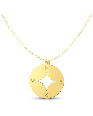 Jared The Galleria Of Jewelry Compass Necklace 14K Yellow Gold
